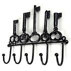 NEW WROUGHT IRON VINATGE STYLE 5*HOOK KEY COAT HAT RACK HOLDER HANGER 23*18