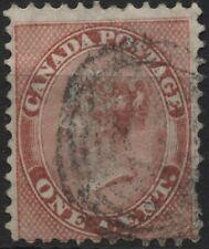 Canada 1859 #14 1c rose Queen Victoria perf 12