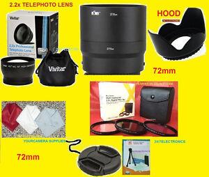 22pcSET: 2.2x TELEPHOTO LENS 72mm+ADAPTER to CAMERA NIKON COOLPIX P600 P610 B700