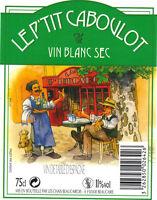 Etiquette de vin - Wine Label - Le P'Tit Caboulot