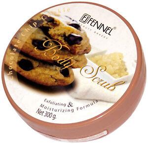 Fennel Body Scrub Chocolate-Chip Cookie 300g, Strafft, glättet + pflegt die Haut