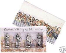 4 Viking, Norman, Saxon Metal Figures Presentation Box 1066 Danes Hastings bnip