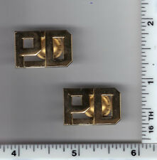 """PD"" (Police Department) Generic Collar Brass - Gold Plated"