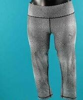 PUMA ALL EYES ON ME 3/4 TIGHTS  Black And White Size UK 10  *6