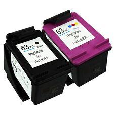 2 Combo Ink Cartridges for HP 63XL Envy 4520 4526 Officejet 3830 4650 HP63XL