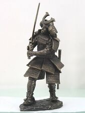 LARGE ARMORED WARLORD SHOGUN SAMURAI WARRIOR FIGURINE STATUE WITH KATANA JAPAN