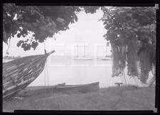 1930s Zane Grey Estate Tahiti Fishing Boats Old Photo Negative 305i
