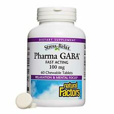 Stress-Relax Chewable Pharma GABA 100 mg by Natural Factors, Non-Drowsy Stress S