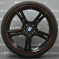 "GENUINE BMW 3 4 SERIES F30 F31 STYLE 361 20"" GLOSS BLACK ALLOY WHEELS & TYRES X4"