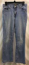 Womans Size 6 Petite Boot Cut Jeans Eddie Bauer Brand Light Wash Denim