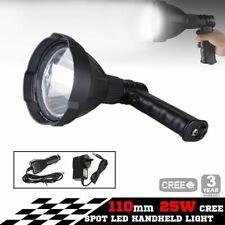 25w CREE LED Handheld Spot Light Rechargeable Spotlight Hunting Shooting 12v