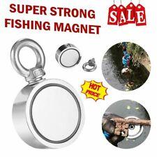 Big 450 700lbs Fishing Magnet Kit Strong Neodymium Pulling Force Treasure Hunt