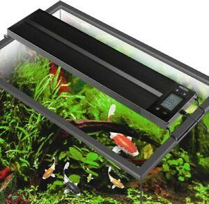 AMZBD LED Dimmer Aquarium Light, Fish Tank Light with Timer Approx 76cm - 92 cm