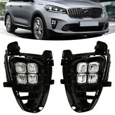 For KIA Sorento L/ LX/ LX V6/ EX V6 2019 2020 4 Eyes LED Daylights Kit Fog Lamp