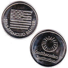 Smithsonian Institution Star Spangled Banner Shiny Metal Token, Collectible