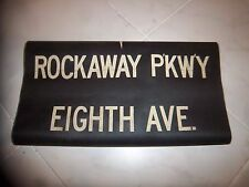 Bmt Ind R1/9 Nyc Subway Sign Rockaway Parkway Eighth Ave Brooklyn Ny Roll Sign