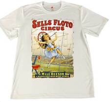 Sells Floto Circus Poster Wicking T-Shirt w American Flag Car Coaster