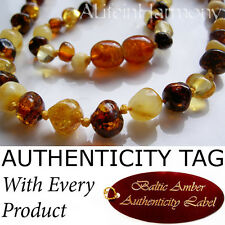 Genuine Baltic Amber Baby Child Necklace Multicolour