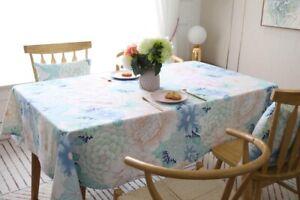 Tablecloth Cotton Table Cloth Floral Print Rectangle Party Wedding Home Decor