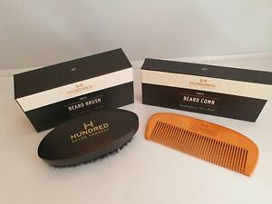 Beard Kit, Boar Bristle Beard Brush No 2 & Handcrafted Beard Comb No 2, Gift Set