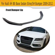 For Audi A4 B8 Sline S4 Sedan 09-12 FRP Front Bumper Lip Chin Bodykit Factory