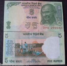 INDIA 5 RUPEE UNC SIGN YV REDDY RARE ONE UNC # 618