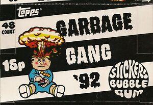 1992 TOPPS UK IRELAND GARBAGE GANG 92 EMPTY SHOP DISPLAY BOX E GARBAGE PAIL KIDS