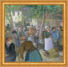 Poultry Market at Gisors Camille Pissarro mercato commercianti pollame B a3 00927