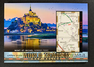 2018 Goodwin Champions Mont. St. Michel Normandy France World Traveler Map Relic