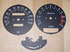 Yamaha RD 250 350 LC Clock Set Dials Speedometer Rev Counter Temp Gauge MPH KMH