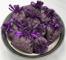Set of 10 Lavender Sachets made  00004000 with Plum Organza Bags