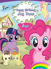 Personalised Birthday Card - My Little Pony - Childrens Girls Daughter Niece