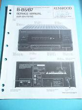 Kenwood b-b5/b7 repair manual amplifier/equalizer, original