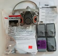 New USA 3M Medium 6200 With 4 7093 Sealed Particulate Filters P Grade 100 Rated