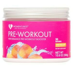 Women's Best Pre-Workout  *Sour Peach Candy* Performance Booster *30 Servings*