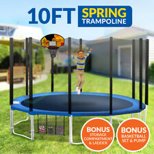 10ft Trampoline Basketball Free Ladder Spring Net Spring Pad Cover Round