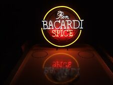 * Bacardi Spice Neon Bier Licht Zeichen & Miller Lite Bud Pabst Coors NFL Untersetzer *