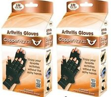 2X Copper Hands Arthritis Glove Therapeutic Compression WITH BOX As Seen on Tv