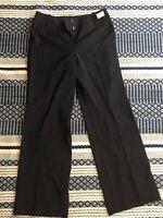 NWT Talbots Womens Pants Size 4P Black Wool Italian Fabric Dress Business Casual