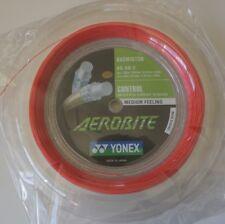 YONEX Badminton Hybrid String Aerobite, BGAB-2, 200 m Coil, Red/White