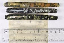 Vintage fountain pen lot: Aikin Lambert, Mabie Todd, Diamond Point, to restore