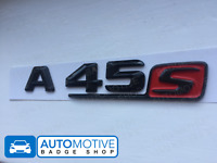MERCEDES A45S A45 S A-CLASS W176 W177 GLOSS BLACK Badge AMG