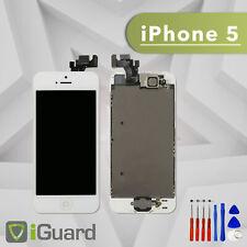 PREMIUM LCD Display für iPhone 5 Weiss VORMONTIERT Screen Ersatz Bildschirm