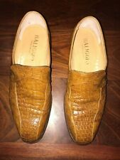 Baliggio, Light Brown Genuine Crocodile/Alligator Skin Shoes.  Men's size 6 ½