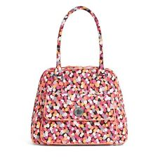 "Vera Bradley Turn Lock Satchel Bag Purse ""Pixie Confetti"" Retired Patterns NWT!"