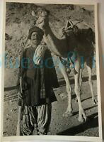 1941 Ghilzai Camel Drover Baluchistan India WW2  8 x 6 inches