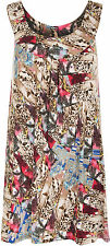 Women's Polyester Animal Print Casual Vest Top, Strappy, Cami Tops & Shirts