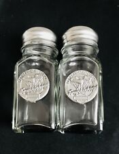 HARLEY-DAVIDSON KNUCKLEHEAD MOTORCYCLE SALT & PEPPER SHAKERS BIKER PEWTER SILVER