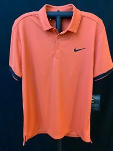 Nike Men's Activewear Polo Top Shirt, Standard Fit, Tangerine, Medium, NWT