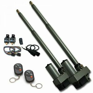 Heavy Duty Dual Bolt In Power Tonneau Cover Opener with Remote and One Touch Car